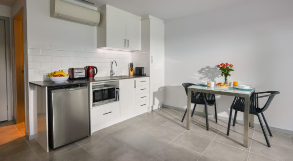 Studio Apartment Kitchenette | East Maitland Executive Apartments